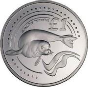 Cyprus Pound Mediterranean Monk Seal 2005 Proof KM# 76 £1 MONACHUS MONACHUS coin reverse