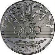 Cyprus Pound XXVI Summer Olympic games 1996 Atlanta 1996 KM# 71 1£ ATLANTA 1996 coin reverse