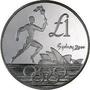 Cyprus Pound XXVII Summer Olympic Games 2000 Sydney 2000 KM# 92 SYDNEY 2000 £1 coin reverse