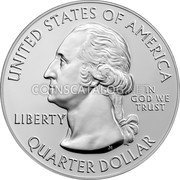 USA Quarter Dollar (Lowell National Historical Park,) UNITED STATES OF AMERICA LIBERTY IN GOD WE TRUST QUARTER DOLLAR coin obverse