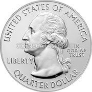 USA Quarter Dollar (War in the Pacific) UNITED STATES OF AMERICA LIBERTY IN GOD WE TRUST QUARTER DOLLAR coin obverse