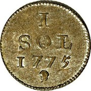 Luxembourg Sol Maria Theresa 1775 (b) KM# 6 1 SOL 1775 coin reverse