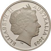 Australia Twenty Cents (International Year of Planet Earth) KM# 1058a ELIZABETH II AUSTRALIA 2008 IRB coin obverse