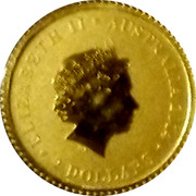 Australia Two Dollars Kangaroo 2014 P UNC ELIZABETH II AUSTRALIA 2014 TWO DOLLARS coin obverse