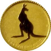 Australia Two Dollars Kangaroo 2014 P UNC 0.5 GRAM 9999 GOLD coin reverse