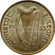Ireland 1/2 Crown 1933 KM# 8 Sterling Coinage coin obverse