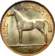 Ireland 1/2 Crown 1933 KM# 8 Sterling Coinage coin reverse