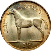 Ireland 1/2 Crown 1933 KM# 8 Sterling Coinage LEAT COROIN 2S 6D PM coin reverse