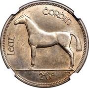 Ireland 1/2 Crown 1961 KM# 17 Republic LEAT CORÓIN 2S6D PM coin reverse