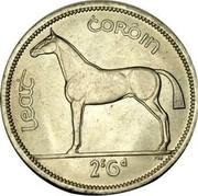 Ireland 1/2 Crown 1961 KM# 16a Republic LEAT CORÓIN 2S6D PM coin reverse