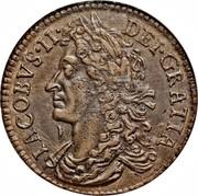 Ireland 1/2 Crown James II Gun Money 1689 Proof, jan KM# 95a IACOBVS ∙II∙ DEI ∙ GRATIA coin obverse