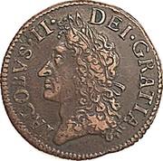 Ireland 1/2 Crown James II Gun Money 1690 May KM# 101 IACOBVS • II • DEI • GRATIA coin obverse