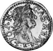 Lithuania 1/2 Ducat 1665 TLB KM# 54.2 Trade Coinage CAS REX IOAN T L B coin obverse