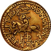 Lithuania 1/2 Ducat 1665 TLB KM# 54.1 Trade Coinage MON AVR MAG DVC LIT 1665 coin reverse