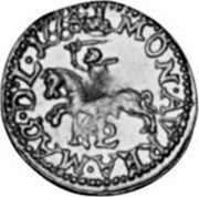 Lithuania 1/2 Ducat 1665 TLB KM# 54.2 Trade Coinage MON AVREA MAG D L 1665 coin reverse