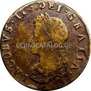 Ireland 1/2 Penny 1691 KM# 108 Siege of Limerick coin obverse