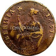 Ireland 1/2 Penny 1691 KM# 108 Siege of Limerick coin reverse