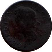 Ireland 1/2 Penny 1750 KM# 130.2 Standard Coinage HIBERNIA • 1750 coin obverse