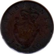 Ireland 1/2 Penny 1750 KM# 130.2 Standard Coinage GEORGIVS • II • REX • coin reverse
