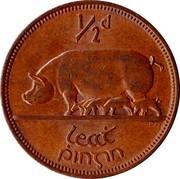 Ireland 1/2 Penny 1964 KM# 10 Republic ½ D LEAT PINGIN PM coin reverse