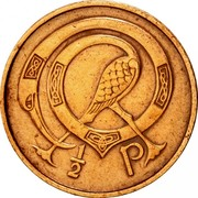 Ireland 1/2 Penny 1971 KM# 19 Decimal Coinage 1/2 P coin reverse