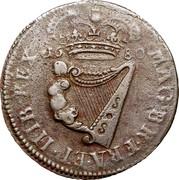 Ireland 1/2 Penny Charles II 1680 KM# 90.1 MAG.BR.FRA ET HIB. REX 1861 coin reverse