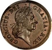 Ireland 1/2 Penny George I 1722 KM# 116 GEORGIUS DEI GRATIA REX coin obverse