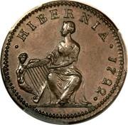 Ireland 1/2 Penny George I 1722 Proof KM# 116a • HIBERNIA • 1722 • coin reverse