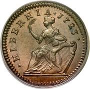 Ireland 1/2 Penny George I 1723 KM# 117.1 HIBERNIA 1723 coin reverse