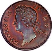 Ireland 1/2 Penny George II 1736 KM# 125a GEORGIUS II REX coin obverse