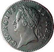 Ireland 1/2 Penny George II 1760 KM# 136 GEORGIVS II REX coin obverse