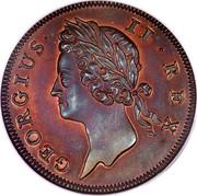 Ireland 1/2 Penny George II small letters 1736 KM# 125 GEORGIUS II REX coin obverse