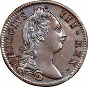 Ireland 1/2 Penny George III 1781 KM# 140 GEORGIVS ∙ III ∙ REX ∙ coin obverse