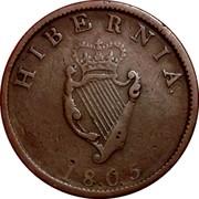 Ireland 1/2 Penny George III 1805 Restrike. Proof KM# 147.2c HIBERNIA 1805 coin reverse