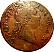 Ireland 1/2 Penny George III long bust type 1769 KM# 138 GEORGIVS • III • REX • coin obverse