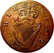 Ireland 1/2 Penny George III long bust type 1769 KM# 138 HIBERNIA • 17 69 coin reverse