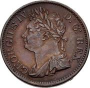Ireland 1/2 Penny George IV 1822 KM# 150 GEORGIUS IV D: G: REX coin obverse