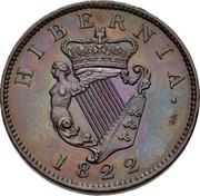 Ireland 1/2 Penny George IV 1822 KM# 150 HIBERNIA 1822 coin reverse