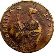 Ireland 1/2 Penny James I 1691 KM# 108 HIBERNIA 1691 coin reverse