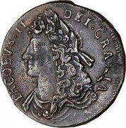 Ireland 1/2 Penny James II 1686 KM# 92a MAG BR FRA ET HIB REX 16 86 coin obverse