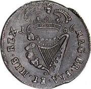 Ireland 1/2 Penny James II 1686 KM# 92 IACOBVS II DEI GRATIA coin reverse
