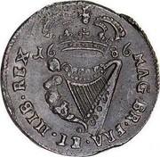 Ireland 1/2 Penny James II 1686 KM# 92a IACOBVS II DEI GRATIA coin reverse