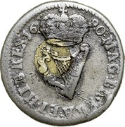Ireland 1/2 Penny James II 1690 KM# 96 MAG∙BR∙FRA∙ET∙HIB∙REX 1690 coin reverse