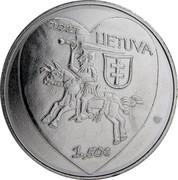 Lithuania 1.5 Euro Kaziukas Fair 2017 KM# 226 2017 LIETUVA 1,50 € coin obverse