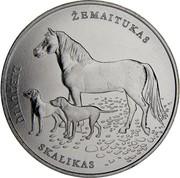 Lithuania 1.5 Euro Lithuanian Hound and Zemaitukas 2017 KM# 225 LIETUVIŲ SKALIKAS ŽEMAITUKAS coin reverse