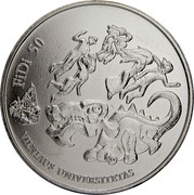 Lithuania 1.5 Euro The 50th Physicists Day of Vilnius University 2018 LMK KM# 227 FIDI 50 VILNIAUS UNIVERSITETAS coin reverse