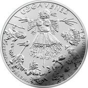 Lithuania 1,50€ Mardi Gras 2019 LMK UŽGAVĖNĖS ŽIEMA ŽIEMA BĖK IŠ KIEMO! coin reverse