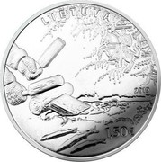 Lithuania 1,50€ Smelt Fishing by Attracting 2019 LMK LIETUVA 2019 1,50€ coin obverse