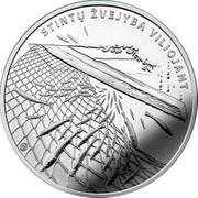 Lithuania 1,50€ Smelt Fishing by Attracting 2019 LMK STINTŲ ŽVEJYBA VILIOJANT LMK coin reverse