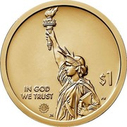 USA $1 (American Innovation - Incandescent Light Bulb) NEW JERSEY UNITED STATES OF AMERICA coin reverse